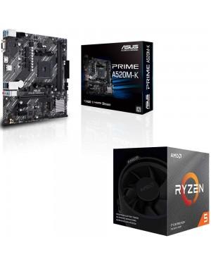 باندل مادربرد ایسوس PRIME A520M-K + پردازنده ای ام دی RYZEN5 3600XT