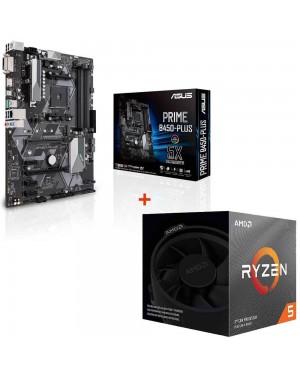 باندل مادربرد ایسوس PRIME B450-PLUS + پردازنده ای ام دی RYZEN5 3600