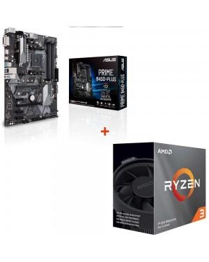 باندل مادربرد ایسوس PRIME B450-PLUS + پردازنده ای ام دی RYZEN3 3100