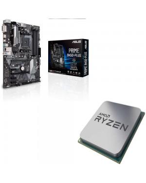 باندل مادربرد ایسوس PRIME B450-PLUS + پردازنده ای ام دی RYZEN3 3200G