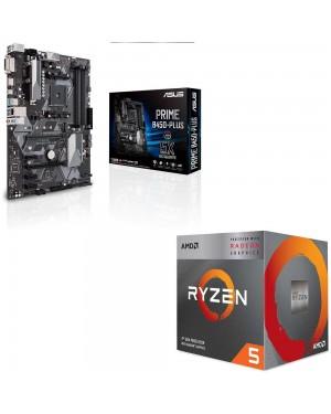 باندل مادربرد ایسوس PRIME B450-PLUS + پردازنده ای ام دی RYZEN5 3400G