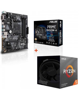 باندل مادربرد ایسوس PRIME B450M-A/CSM + پردازنده ای ام دی RYZEN5 3600