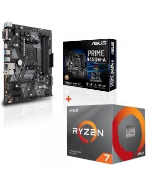 باندل مادربرد ایسوس PRIME B450M-A/CSM + پردازنده ای ام دی RYZEN7 3800X