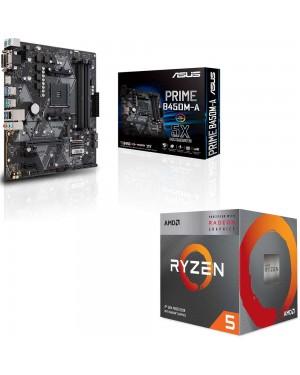 باندل مادربرد ایسوس PRIME B450M-A + پردازنده ای ام دی RYZEN5 3400G