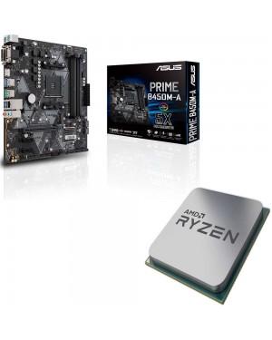 باندل مادربرد ایسوس PRIME B450M-A + پردازنده ای ام دی RYZEN5 3600X TRAY