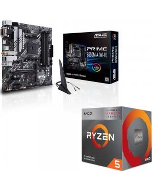 باندل مادربرد ایسوس PRIME B550M-A WI-FI + پردازنده ای ام دی RYZEN5 3400G