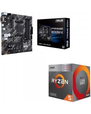 باندل مادربرد ایسوس PRIME B550M-K + پردازنده ای ام دی RYZEN5 3400G