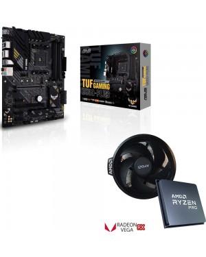 باندل مادربرد ایسوس TUF GAMING B550-PLUS + پردازنده باکس ای ام دی RYZEN 5 PRO 4650G
