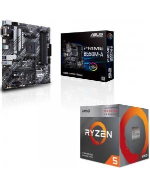 باندل مادربرد ایسوس PRIME B550M-A + پردازنده ای ام دی RYZEN5 3400G