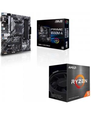 باندل مادربرد ایسوس PRIME B550M-A + پردازنده ای ام دی RYZEN5 5600X BOX