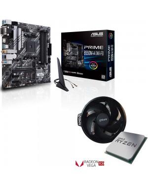 باندل مادربرد ایسوس PRIME B550M-A WI-FI + پردازنده ای ام دی RYZEN5 3400G TRAY