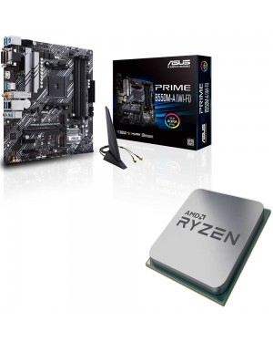 باندل مادربرد ایسوس PRIME B550M-A WI-FI + پردازنده ای ام دی RYZEN5 3600X Tray