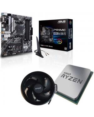 باندل مادربرد ایسوس PRIME B550M-A WI-FI + پردازنده ای ام دی RYZEN7 3800X TRAY همراه فن اورجینال AMD
