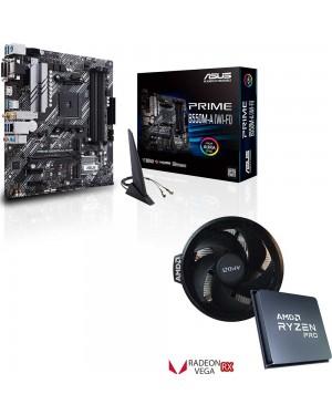 باندل مادربرد ایسوس PRIME B550M-A WI-FI + پردازنده ای ام دی Ryzen 5 PRO 4650G TRAY