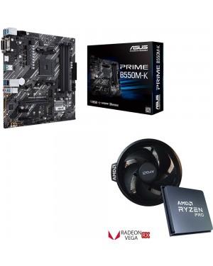 باندل مادربرد ایسوس PRIME B550M-K + پردازنده ای ام دی Ryzen 5 PRO 4650G TRAY
