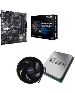 باندل مادربرد ایسوس PRIME B550M-K + پردازنده ای ام دی RYZEN7 3800X همراه فن اورجینال AMD