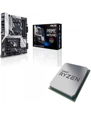 باندل مادربرد ایسوس PRIME X470-PRO + پردازنده ای ام دی RYZEN5 3600X Tray