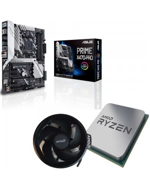باندل مادربرد ایسوس PRIME X470-PRO + پردازنده ای ام دی RYZEN7 3800X همراه فن اورجینال AMD