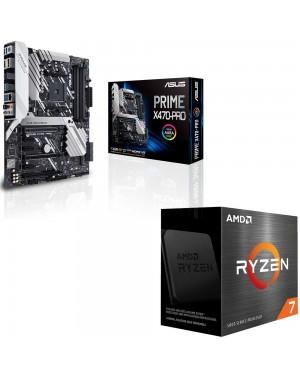 باندل مادربرد ایسوس PRIME X470-PRO + پردازنده ای ام دی RYZEN7 5800X