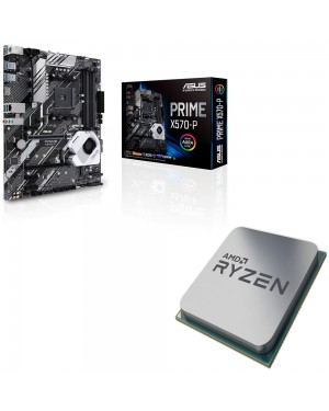 باندل مادربرد ایسوس PRIME X570-P + پردازنده ای ام دی RYZEN5 3600 Tray