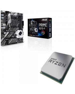 باندل مادربرد ایسوس PRIME X570-P + پردازنده ای ام دی RYZEN5 3600X Tray