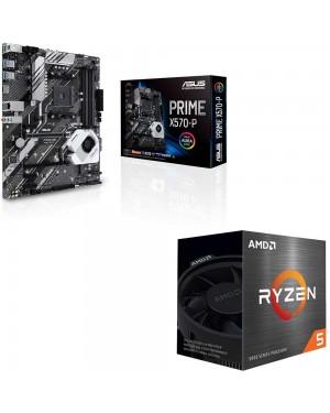 باندل مادربرد ایسوس PRIME X570-P + پردازنده ای ام دی RYZEN5 3600X BOX