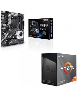 باندل مادربرد ایسوس PRIME X570-P + پردازنده ای ام دی RYZEN7 3800XT
