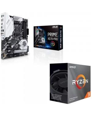 باندل مادربرد ایسوس PRIME X570-PRO + پردازنده ای ام دی RYZEN3 3100