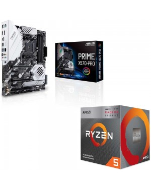 باندل مادربرد ایسوس PRIME X570-PRO + پردازنده ای ام دی RYZEN5 3400G