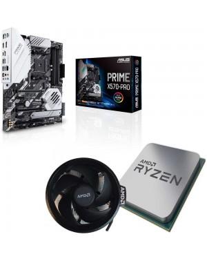 باندل مادربرد ایسوس PRIME X570-PRO + پردازنده ای ام دی RYZEN7 3800X TRAY همراه فن اورجینال AMD