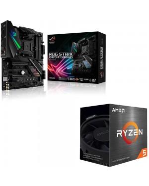 باندل مادربرد ایسوس ROG Strix X470-F Gaming + پردازنده ای ام دی RYZEN5 5600X BOX