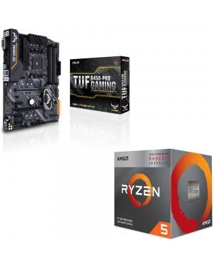 باندل مادربرد ایسوس TUF B450-PRO GAMING + پردازنده ای ام دی RYZEN5 3400G