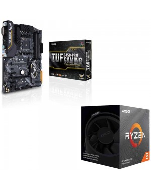 باندل مادربرد ایسوس TUF B450-PRO GAMING + پردازنده ای ام دی RYZEN5 3600X BOX