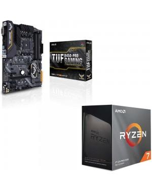 باندل مادربرد ایسوس TUF B450-PRO GAMING + پردازنده ای ام دی RYZEN7 3800XT