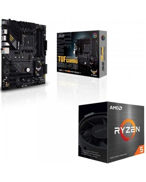 باندل مادربرد ایسوس TUF GAMING B550-PLUS + پردازنده باکس ای ام دی RYZEN 5 5600X