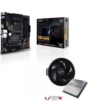 باندل مادربرد ایسوس TUF GAMING B550M-PLUS + پردازنده ای ام دی RYZEN5 3400G TRAY