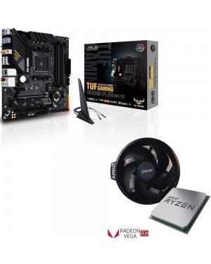 باندل مادربرد ایسوس TUF GAMING B550M-PLUS WI-FI + پردازنده باکس ای ام دی RYZEN 3 4300GE TRAY