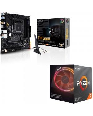باندل مادربرد ایسوس TUF GAMING B550M-PLUS WI-FI + پردازنده باکس ای ام دی RYZEN7 3700X