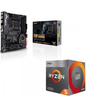 باندل مادربرد ایسوس TUF GAMING X570-PLUS + پردازنده ای ام دی RYZEN5 3400G