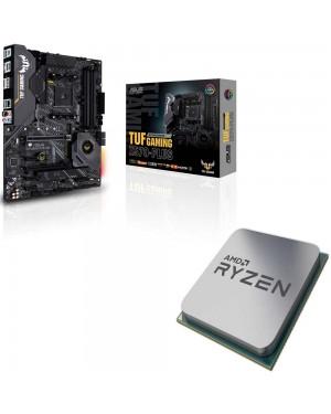 باندل مادربرد ایسوس TUF GAMING X570-PLUS + پردازنده ای ام دی RYZEN5 3600X Tray