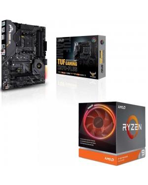 باندل مادربرد ایسوس TUF GAMING X570-PLUS + پردازنده ای ام دی RYZEN9 3900X