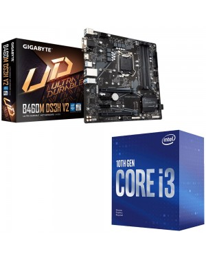 باندل ویژه GIGABYTE B460M DS3H V2 + CPU INTEL CORE I3 10100F